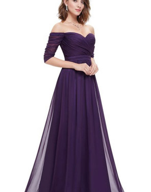 photo Off Shoulder Evening Gown with Sweetheart Neckline by OASAP - Image 7