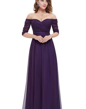 photo Off Shoulder Evening Gown with Sweetheart Neckline by OASAP - Image 8