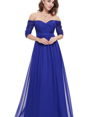 photo Off Shoulder Evening Gown with Sweetheart Neckline by OASAP - Image 10