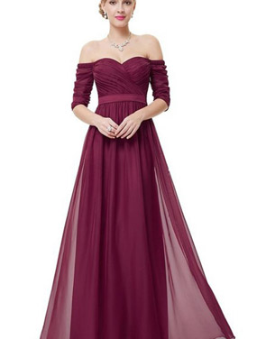 photo Off Shoulder Evening Gown with Sweetheart Neckline by OASAP - Image 1