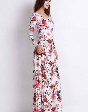Photo Rustic Romance Floral Long Sleeves Dress By OASAP Color Multi