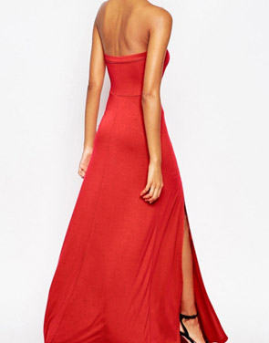 photo Scoop Back Slit Sleeveless Halter Maxi Dress by OASAP - Image 2