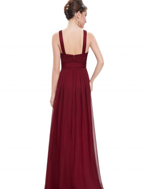 photo Sequin Decor Mesh Paneled Scoop Back Maxi Dress by OASAP - Image 2