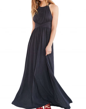 photo Sleeveless Back Crisscross Strap High Waist Maxi Evening Dress by OASAP - Image 1