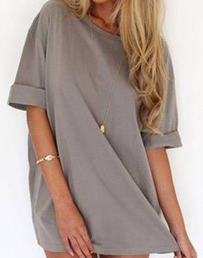 photo Slouchy Drop Shoulder Mini Dress by OASAP - Image 1