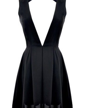 bfddb34cb54 Sultry Plunging Neckline Backless Mini Dress by OASAP - Black