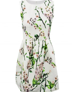 photo Vintage Floral Print Round Neck Sleeveless Dress by OASAP, color Multi - Image 1