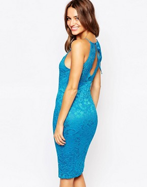 photo Jenna Lace Midi Dress by Amy Childs, color Turquoise - Image 2