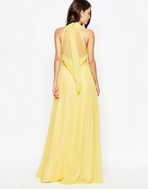 photo Ashley Roberts for Key Collections Radiance Maxi Dress, color Yellow - Image 2