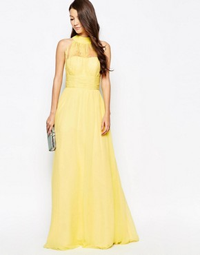 photo Ashley Roberts for Key Collections Radiance Maxi Dress, color Yellow - Image 1