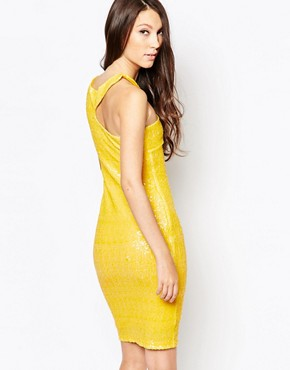 photo Ashley Roberts for Key Collections Sunshine Dress, color Yellow - Image 2