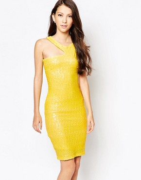 photo Ashley Roberts for Key Collections Sunshine Dress, color Yellow - Image 1
