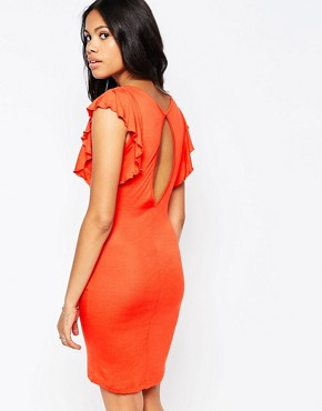 photo Jill Flutter Sleeve Dress In Red by Blend She, color Red - Image 2