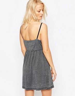 photo Exposed Side Skater Dress by Chorus, color Grey - Image 2