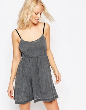 photo Exposed Side Skater Dress by Chorus, color Grey - Image 1