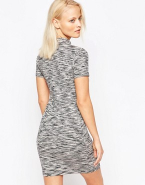 photo Space Dye Hi Neck Dress by Chorus, color Grey - Image 2