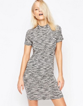 photo Space Dye Hi Neck Dress by Chorus, color Grey - Image 1