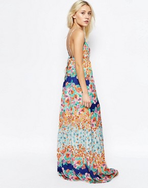photo Jolie Garden Bouquet Maxi Dress by d.RA, color Garden Bouquet - Image 2