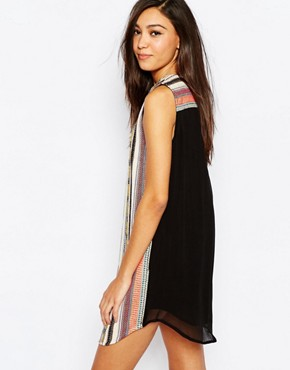 photo diego Embroidered Shift Dress by Deby Debo, color Multi - Image 2