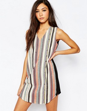 photo diego Embroidered Shift Dress by Deby Debo, color Multi - Image 1