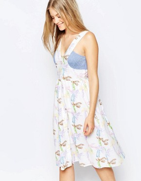 photo Fool For Love Dress by Family Affairs, color Palm Print - Image 1