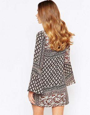 photo Gabriel Bell Sleeve Swing Dress by Girl In Mind, color Multi - Image 2