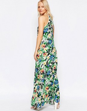 photo Maxi Dress in Tropical Floral Print by Girls on Film, color Multi - Image 2