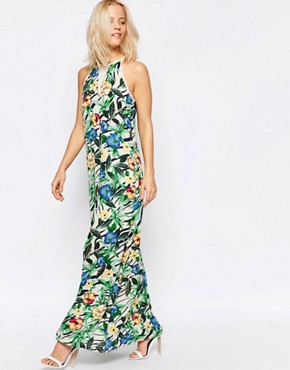 photo Maxi Dress in Tropical Floral Print by Girls on Film, color Multi - Image 1