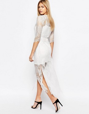 photo Karley Lace Dress with Slip by Goldie, color Ivory - Image 2