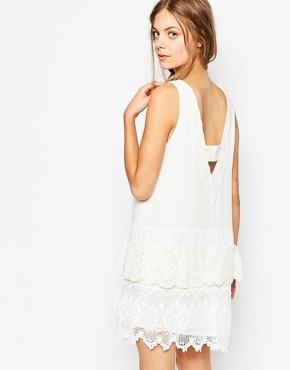photo Brodie Crochet Trim Dress by Greylin, color White - Image 2