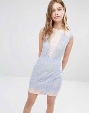 photo Lana Two Tone Lace Dress by Greylin, color Blue Periwinkle - Image 1