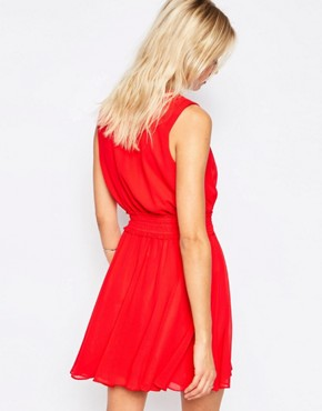 photo Odelle Cinched Waist Dress by Greylin, color Red Hibiscus - Image 2