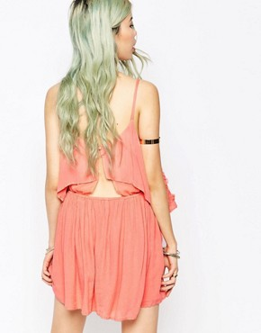 photo Embroidered Overlay Cami Dress by Hazel, color Pink - Image 2