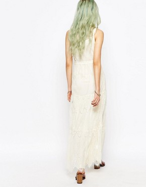 photo Lace Maxi Dress by Hazel, color Cream - Image 2