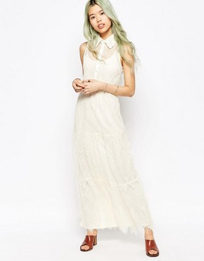 photo Lace Maxi Dress by Hazel, color Cream - Image 1