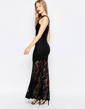 photo Lace Maxi Dress by Honor Gold, color Black - Image 2