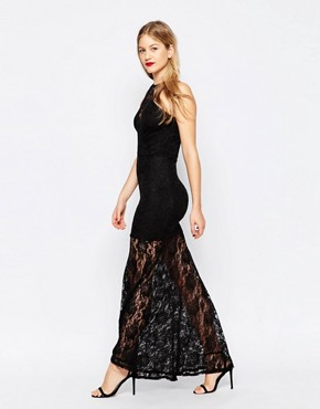 photo Lace Maxi Dress by Honor Gold, color Black - Image 1