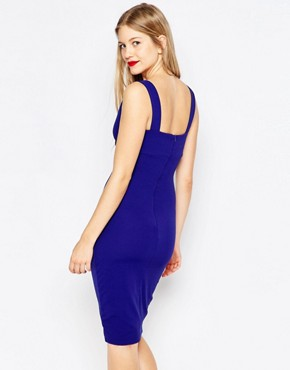 photo Pencil Dress with Asymmetric Hem by Honor Gold, color Blue - Image 2