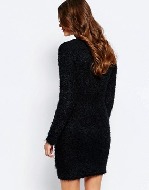 photo Jumper Dress with Back Lace Insert by Ichi, color Black - Image 2
