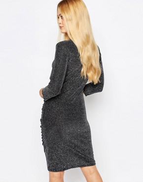 photo Lulu Dress with Ruched Side by Ichi, color Grey - Image 2