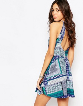 photo Flippy Dress with Zip Back by Influence Tall, color Multi - Image 2