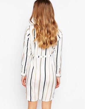 photo Striped Shirt Dress by Influence Tall, color Grey - Image 2