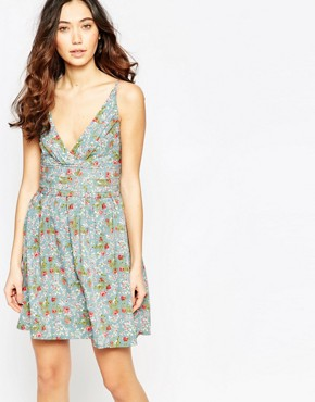 photo Cami Dress in Mini Rose Print by Iska, color Pastel - Image 1