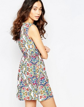 photo Printed Dress with Zip Pockets by Iska, color Multi - Image 2
