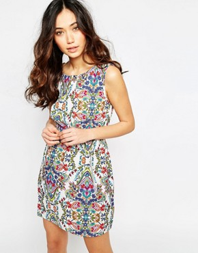 photo Printed Dress with Zip Pockets by Iska, color Multi - Image 1