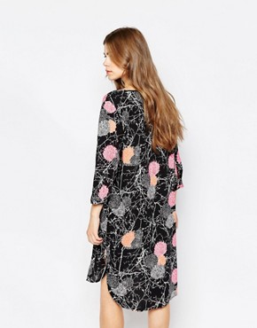 photo Orchid 3/4 Sleeve Dress by JDY, color multi black - Image 2