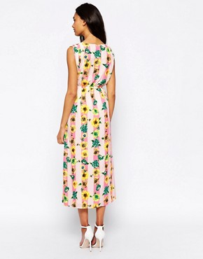 photo Maxi Dress In Stripe and Floral Print by Jovonna, color Floral - Image 2