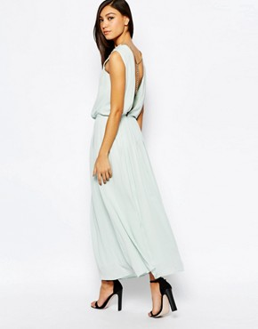 photo Maxi Dress with Chain Back by Jovonna, color Mint - Image 1