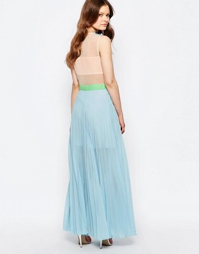 photo Neon Town Maxi Dress by Jovonna, color Blue - Image 2