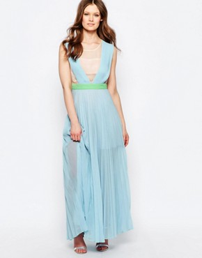 photo Neon Town Maxi Dress by Jovonna, color Blue - Image 1